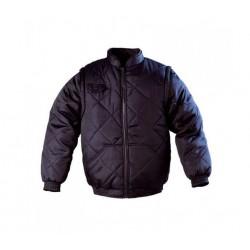 Gilet Chouka Sleeve polyester/coton-manches amovibles- taille L- couleur bleue-fermeture à glissière