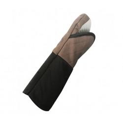 Gants anti-chaleur de cuisine textile + silicone 200° C max. Longueur 32cm