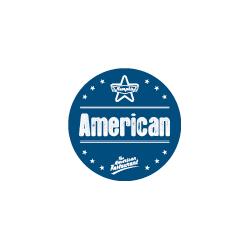 Etiquette identification plat AMERICAN avec boite distributrice de 500 étiquettes-Livraison à domicile