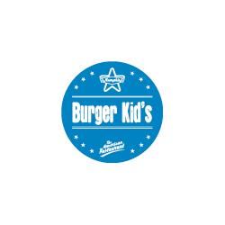 Etiquette identification plat BURGER KIDS avec boite distributrice de 500 étiquettes-Livraison à domicile