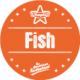Etiquette identification plat FISH avec boite distributrice de 500 étiquettes-Livraison à domicile