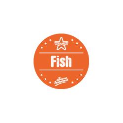 Etiquette FISH avec boite distributrice de 500
