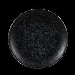 Assiettes petites rondes noires Menu Shades diam 20,5 par 6