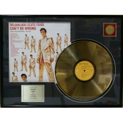 Disque d'or ELVIS ...